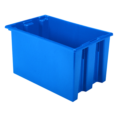 """23-1/2"""" L x 15-1/2"""" W x 12"""" Hgt. Blue Akro-Mils® Nest & Stack Container"""