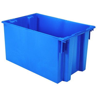 "29-1/2""L x 19-1/2""W x 15""H Blue Akro-Mils® Nest & Stack Container"