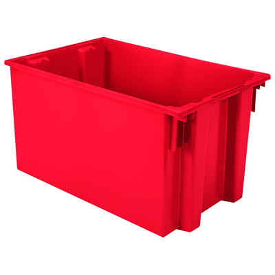 "29-1/2"" L x 19-1/2"" W x 15"" Hgt. Red Akro-Mils® Nest & Stack Container"