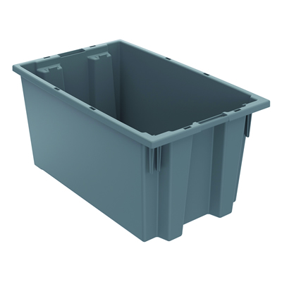 "18""L x 11""W x 9""H Gray Akro-Mils® Nest & Stack Container"
