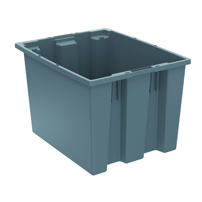 """19-1/2""""L x 15-1/2""""W x 13""""H Gray Akro-Mils® Nest & Stack Container"""