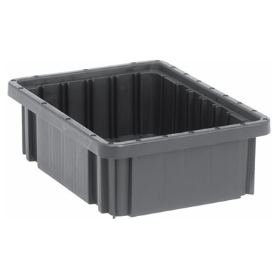 "Conductive Dividable Grid Container - 10-7/8"" L x 8-1/4"" W x 3-1/2"" Hgt."