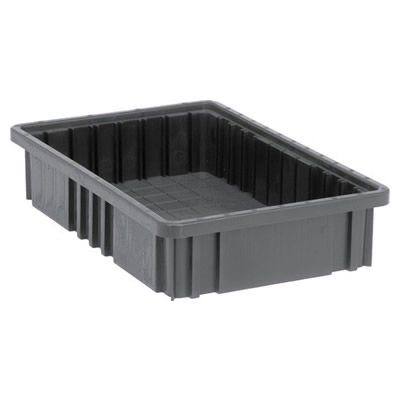 """Conductive Dividable Grid Container - 16-1/2"""" L x 10-7/8"""" W x 3-1/2"""" Hgt."""