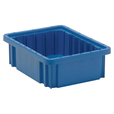 "Blue Dividable Grid Container - 10-7/8"" L x 8-1/4"" W x 3-1/2"" Hgt."