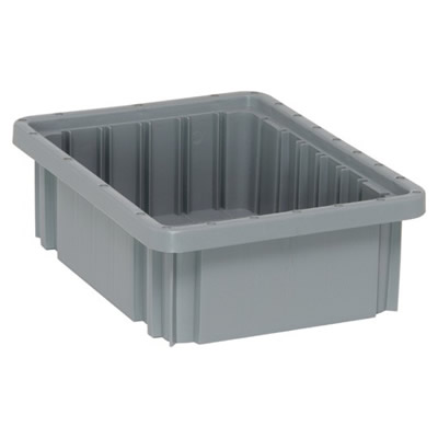 "10-7/8""L x 8-1/4""W x 3-1/2""H Gray Dividable Grid Container"