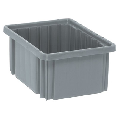 "Gray Dividable Grid Container - 10-7/8"" L x 8-1/4"" W x 5"" Hgt."