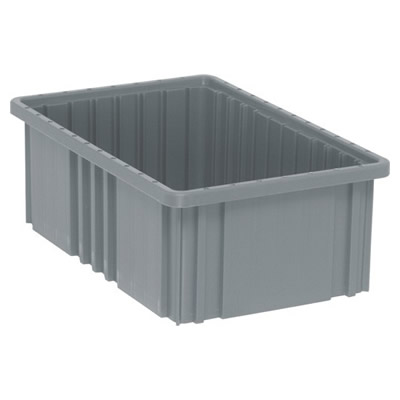 """16-1/2""""L x 10-7/8""""W x 6""""H Gray Dividable Grid Container"""