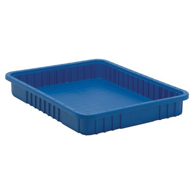 "Blue Dividable Grid Container - 22-1/2"" L x 17-1/2"" W x 3"" Hgt."