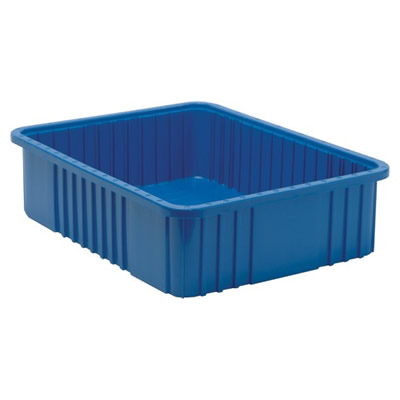 "Blue Dividable Grid Container - 22-1/2"" L x 17-1/2"" W x 6"" Hgt."