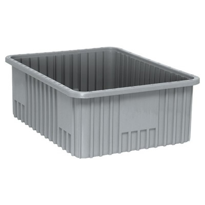 """22-1/2""""L x 17-1/2""""W x 8""""H Gray Dividable Grid Container"""