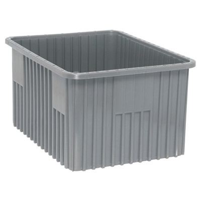 "Gray Dividable Grid Container - 22-1/2"" L x 17-1/2"" W x 12"" Hgt."