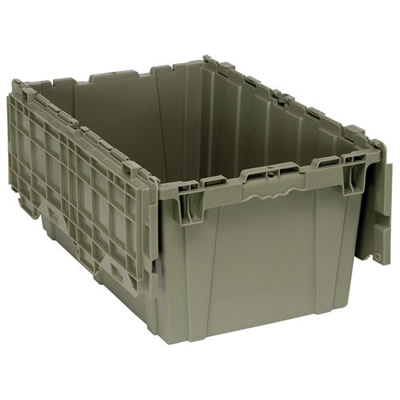 "27""L x 17-3/4""W x 12-1/2""H Heavy Duty Attached Top Container"