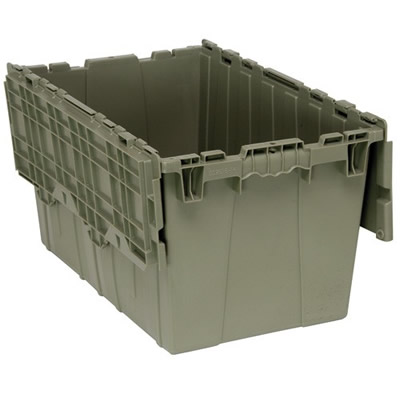 "24""L x 15""W x 13-3/4""H Heavy Duty Attached Top Container"
