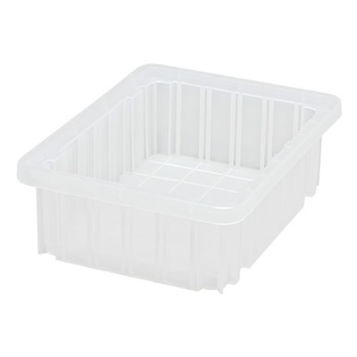 "Clear Dividable Grid Container - 10-7/8"" L x 8-1/4"" W x 3-1/2"" Hgt."