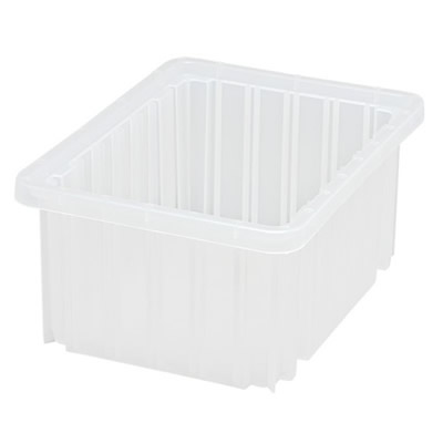 "Clear Dividable Grid Container - 10-7/8"" L x 8-1/4"" W x 5"" Hgt."