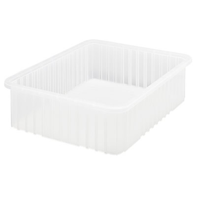 """Clear Dividable Grid Container - 22-1/2"""" L x 17-1/2"""" W x 6"""" Hgt."""