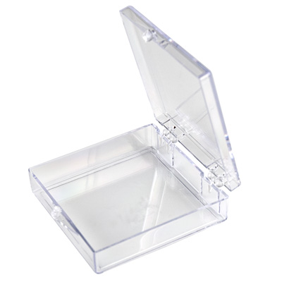 "Clear Hinged Box - 2"" L x 2"" W x 1/2"" Hgt."
