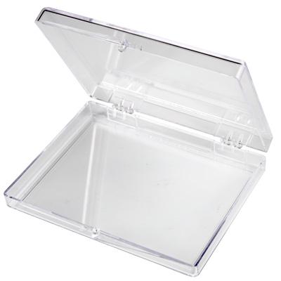 """Clear Hinged Box - 3-9/16"""" L x 2-9/16"""" W x 1/2"""" Hgt."""