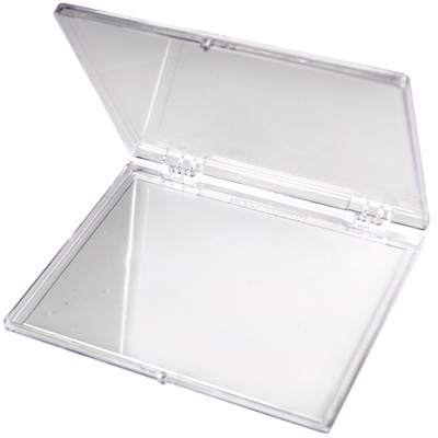 "4-5/8""L x 3-1/2""W x 1/4""H Clear Hinged Box"
