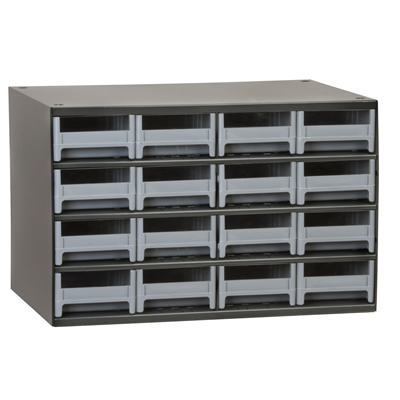"Akro-Mils® Steel Frame Parts Cabinet with 16 Drawers - 10-9/16"" L x 4"" W x 2-1/8"" Hgt."