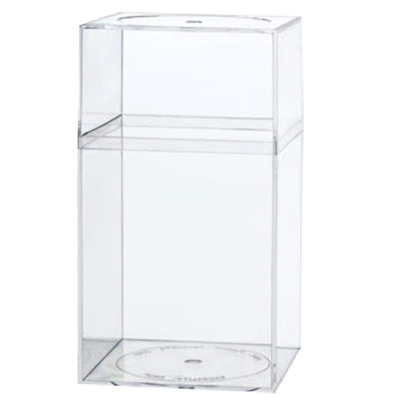 "Clear Plastic Box with Removable Lid 4"" x 4"" x 7-1/4"""