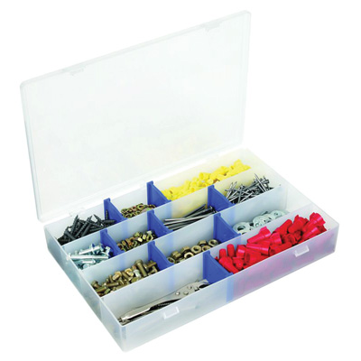 "Zerust® IDS™ Utility Storage Box w/4 Fixed Compartments - 13-1/2"" L x 9-5/8"" W x 2"" Hgt."