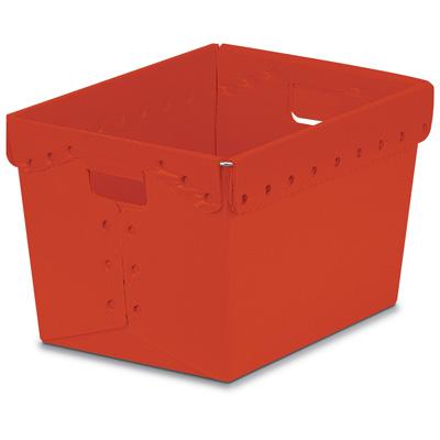 "Red Corrugated Plastic Nesting Tote - 18-1/4"" L x 12-3/4"" W x 11-1/2"" Hgt."