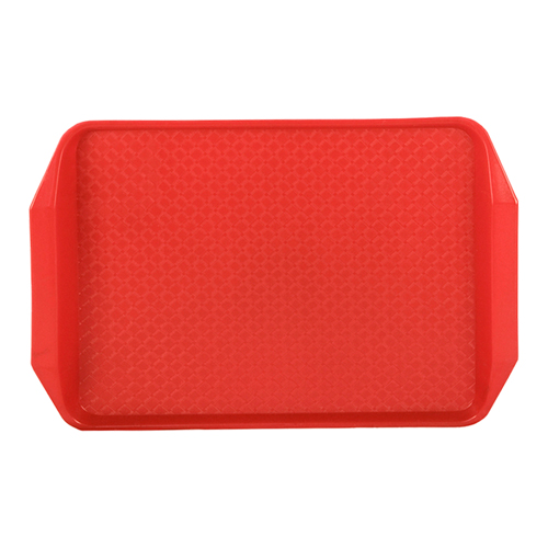"Red 17"" L x 12"" W Comfort Grip Tray"
