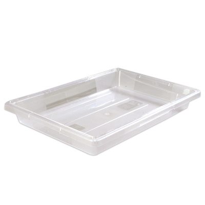 "5 Gallon Clear StorPlus™ Color-Coded Food Storage Box 26"" x 18"" x 3 1/2"" (Lids sold separately)"