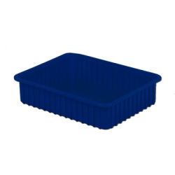 "16-1/2"" L x 10-7/8"" W x 5"" H Dark Blue Divider Box"