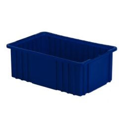 "16-1/2"" L x 10-7/8"" W x 6"" H Dark Blue Divider Box"