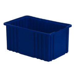 "16-1/2"" L x 10-7/8"" W x 8"" H Dark Blue Divider Box"