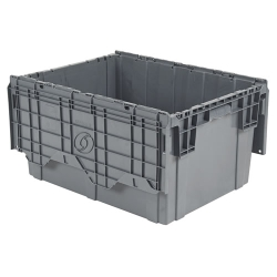 "28""L  x 20""W x 15""H Gray Container"