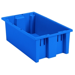 "18"" L x 11"" W x 6"" Hgt. Blue Akro-Mils® Nest & Stack Container"