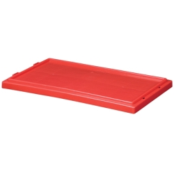 "Red Cover for 19-1/2"" L x 13-1/2"" W Akro-Mils® Nest & Stack Containers"