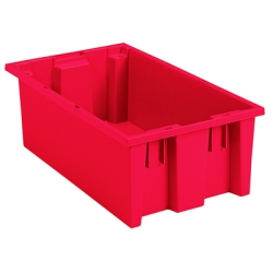 "18""L x 11""W x 6""H Red Akro-Mils® Nest & Stack Container"