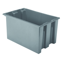 "23-1/2"" L x 15-1/2"" W x 12"" Hgt. Gray Akro-Mils® Nest & Stack Container"