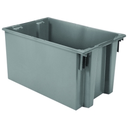 "29-1/2"" L x 19-1/2"" W x 15"" Hgt. Gray Akro-Mils® Nest & Stack Container"