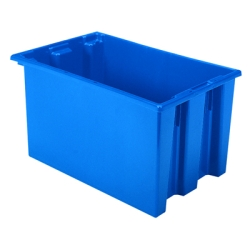 "23-1/2"" L x 15-1/2"" W x 12"" Hgt. Blue Akro-Mils® Nest & Stack Container"
