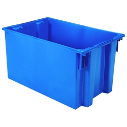 "29-1/2"" L x 19-1/2"" W x 15"" Hgt. Blue Akro-Mils® Nest & Stack Container"