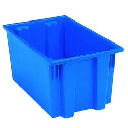 "18"" L x 11"" W x 9"" Hgt. Blue Akro-Mils® Nest & Stack Container"