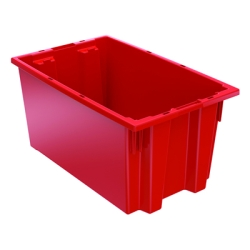 "18"" L x 11"" W x 9"" Hgt. Red Akro-Mils® Nest & Stack Container"