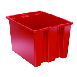 "19-1/2"" L x 15-1/2"" W x 13"" Hgt. Red Akro-Mils® Nest & Stack Container"
