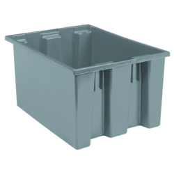 "23-1/2"" L x 19-1/2"" W x 10"" Hgt. Gray Akro-Mils® Nest & Stack Container"