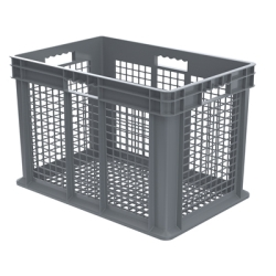 "24"" L x 16"" W x 16"" Hgt. Akro-Mils® Straight Walled Gray Container w/Mesh Sides & Base"