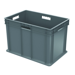 "24"" L x 16"" W x 16"" Hgt. Akro-Mils® Straight Walled Gray Container w/Solid Sides & Base"
