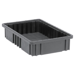 "Conductive Dividable Grid Container - 16-1/2"" L x 10-7/8"" W x 3-1/2"" Hgt."