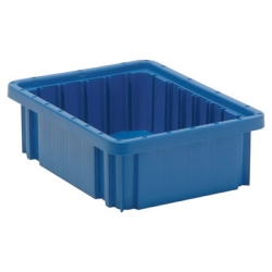 "10-7/8""L x 8-1/4""W x 3-1/2""H Blue Dividable Grid Container"