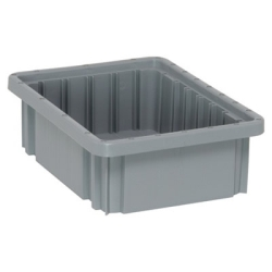 "Gray Dividable Grid Container - 10-7/8"" L x 8-1/4"" W x 3-1/2"" Hgt."