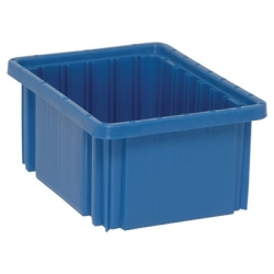 "10-7/8""L x 8-1/4""W x 5""H Blue Dividable Grid Container"
